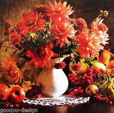 Stickpackung Dahlien Georginen 60x40 cm Herbst Ernte Dahlias Autumn DIY #80375