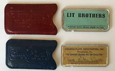 Vintage Credit Cards.Chargea-Plate and Lit Brothers, Phila., w/ Leather Cases