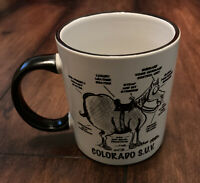 Vintage Colorado S.U.V. Car Funny Collectible Novelty Coffee Cup Horse Mug Gift