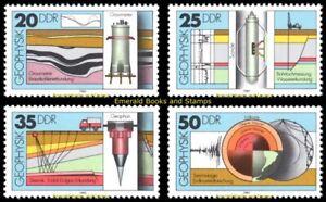 EBS East Germany DDR 1980 - Geophysics - Geophysik - Michel 2557-2560 set MNH**