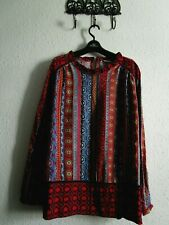 Boho gypsy patterned cotton top size 20, excellent cond