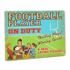 Football Player On Duty Sign White College Professional Pro League National Gift