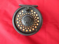 BFR Rim Fly 75 Salmon Trout Fly Fishing Reel with line.  Made in England