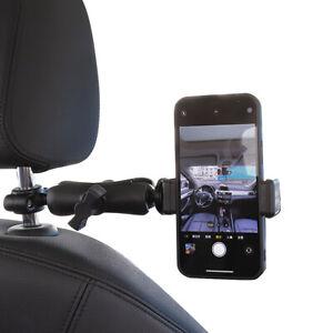 Car Headrest Mount POV Holder Kit for Mobile Phone and GoPro Cameras Handsfree