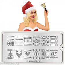 MoYou London FESTIVE 36 Collection Stamping Schablone, Weihnachten Sweater