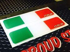 "Italy Italia Proud Flag Domed Decal Emblem Car Flexible 3D 4""x1""Set of 2 Sticker"
