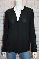 anko Brand Black Chiffon Long Sleeve Blouse Top Size 10 BNWT #SB66