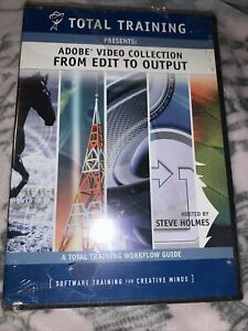 Total Training Adobe Video Collection  From Edit To Output DVD. Free Shipping!
