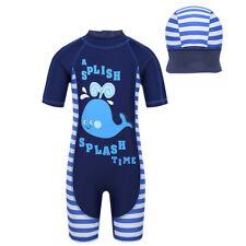 Kids Boys Rash Guard Swimwear Bathing Suit Short Sleeves Surf Diving Beachwear