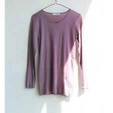 Long Sleeve Solid Basic Tees 100% Cotton T-Shirts for Women