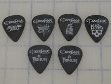 Lot of 6 2005 Ozzfest Trivium Guitar Pick Black White Blasko As I lay Dying