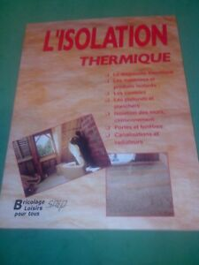 L'isolation thermique - Marcel Guedj