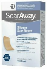 """ScarAway Silicone Scar Sheets, (1.5"""" x 3"""" ) 8 each - Exp: 06/2022"""