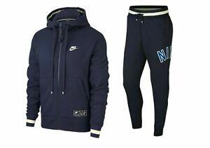 Nike Air Genuine Fleece Tracksuit Loose Hoody & Pants Navy Various Sizes