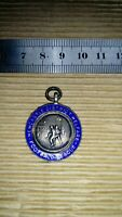 Fully hallmarked silver Football medal, 7g