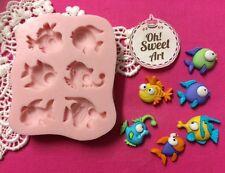 Tiny fish silicone mold fondant cake decorating decorating cupcake food soap FDA
