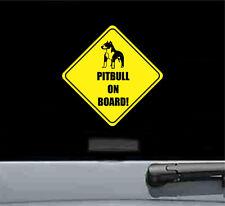 Pitbull on board vinyl sticker decal bumper funny car truck baby pet dog pit