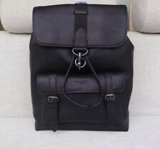 COACH MENS Black Leather Backpack F29523