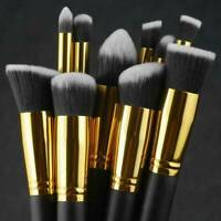 10x Makeup Brushes Tool Set Cosmetic Eyeshadow Face Powder Foundation Lip Brush