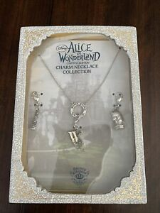 Disney Couture Alice In Wonderland LE  Charm Necklace Collection New White Queen