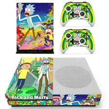 Xbox one S Slim Console Skin Decal Anime Rick and Morty Vinyl Cover Sticker Set