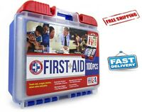 100 pc First Aid Kit Emergency Survival Trauma Bag Outdoor Hiking Car Home Medic