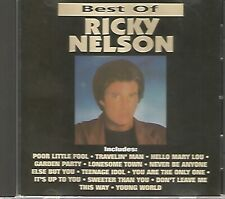 RICKY NELSON - Best of Ricky Nelson - CD - 12 Hit Tracks - Like New