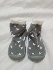 Nuby Snekz Sock Shoe  Grey Stars Baby Size Small 5.5