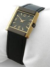 OSCO TITAN * Damen-Armbanduhr Lederband Bicolor Zifferblatt dunkel * UVP 69,95 €