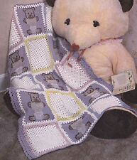 FANCY Ripple & Pastel Bears Baby Afghans/Crochet Pattern INSTRUCTIONS ONLY
