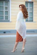 Russian Orenburg Shawl Wrap | Goat Down | 130x130cm | Natural Silk