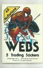 1991 ALL McFARLANE WEBS TRADING STICKERS SPIDERMAN  NUMBERS 001 TO 075  CHOOSE