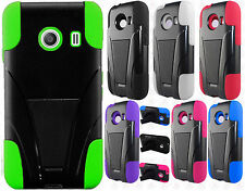 Straight Talk Samsung Galaxy ACE Advanced  HYBRID KICKSTAND Rubber Case Cover