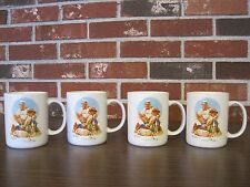"4 NORMAN ROCKWELL ""CATCHING THE BIG ONE"" CUPS / MUGS"