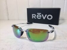 REVO RE4059 09 GN DESCEND N Crystal w/ Green Water POLARIZED Lenses Sunglasses