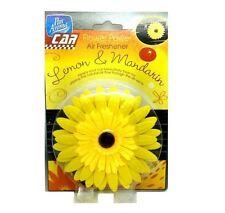 Yellow Flower Car Air Freshener Lemon and Mandarin Vent Clip Sunflower Gift