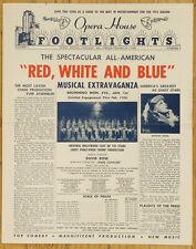 RED, WHITE AND BLUE ~ BALLET RUSSE DE MONTE CARLO ~ CHICAGO OPERA HOUSE - 1951