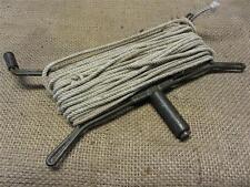 Vintage Hand Fishing Line Reel > Old Antique Fish Rare Design w 2 Handles 8542