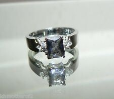 Size 9 Ring Silver Color SOLITAIRE Setting Lt Purple Austrian Crystal SPARKLE #9