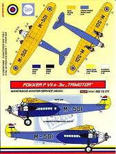 KORA Decals 1/72 FOKKER F-VIIB-3M TRIMOTOR Manchukuo Aviation Service