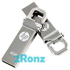 HP v250w 4GB 4G USB Flash Pen Thumb Drive Disk Stick Silver Metal Lot of 5pcs