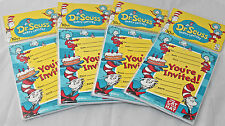 Dr. Seuss Cat in the Hat Birthday Invitations Party Favors 4 Packs - 40 Total