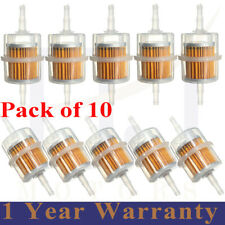 10 x Universal Petrol Inline Fuel Filter Large Car Part Fit 6mm 8mm Pipes