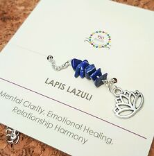 Minimalist Lapis Lazuli gemstone anklet Healing Jewelry September birthstone