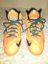 Nike Lebron XI 11 Youth 6.5 Y Atomic Orange Abyss Glacier Basketball Shoes