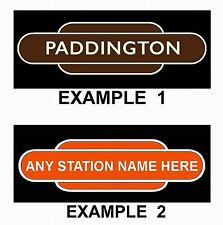 TRAIN FRIDGE MAGNET - RAILWAY STATION TOTEM SIGN