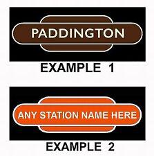 Train Fridge Magnet - Railway Station Totem Sign