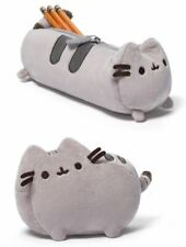 "GUND Pusheen Cat School Pencil Case Makeup Bag w/Zipper Plush 6"" Toy Bundle Set"
