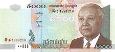 Cambodia 5000 Riels 2004 Unc Pn 55c