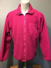 Vtg 90s Patagonia Pink Fleece Pile Full Zip Up Jacket Mens M USA Hiking Ski Coat